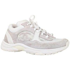 Chanel CC Triple White Sneakers US 10.5 / EU 40.5